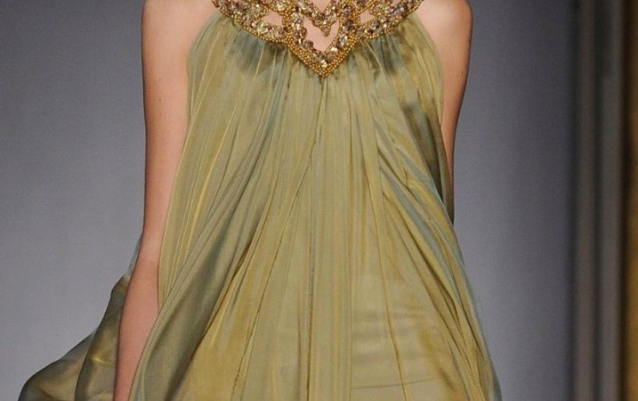 gowns in colors of autumn